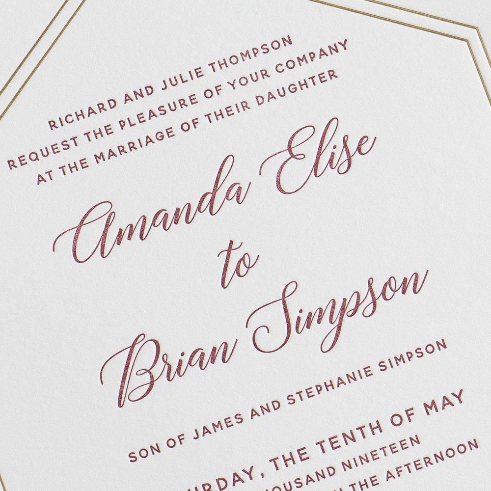 Elegant Burgundy Floral Letterpress Wedding Invitations by Just Jurf-8b.jpg