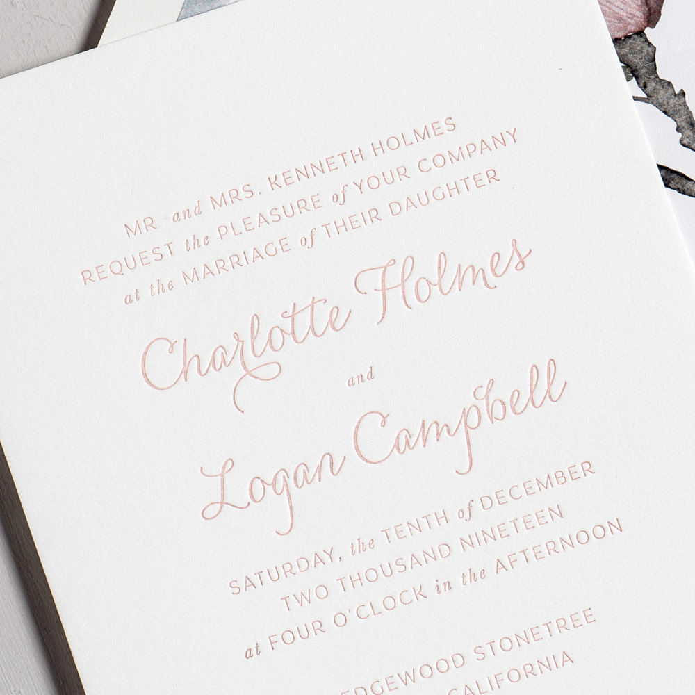 Pink Magnolia Floral Letterpress Wedding Invitations by Just Jurf-8b.jpg