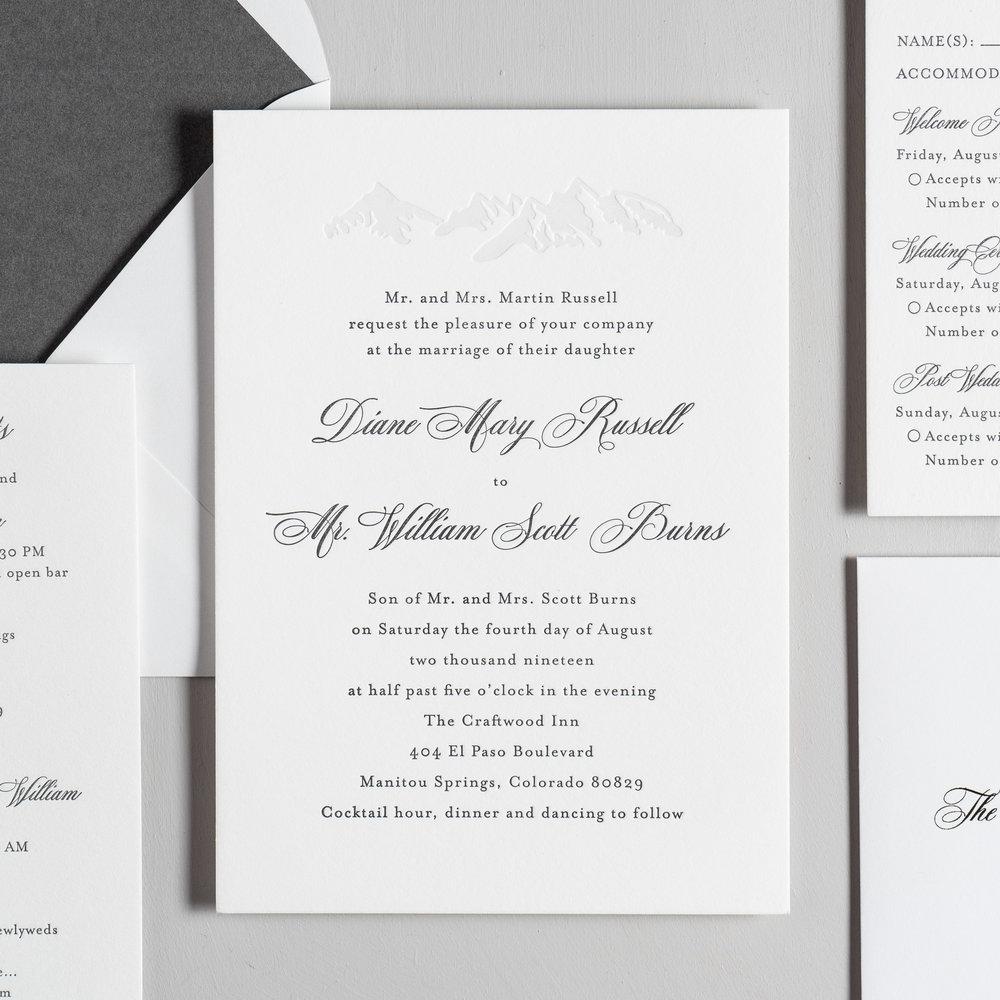 Classic Mountain Letterpress Wedding Invitations by Just Jurf-2.jpg