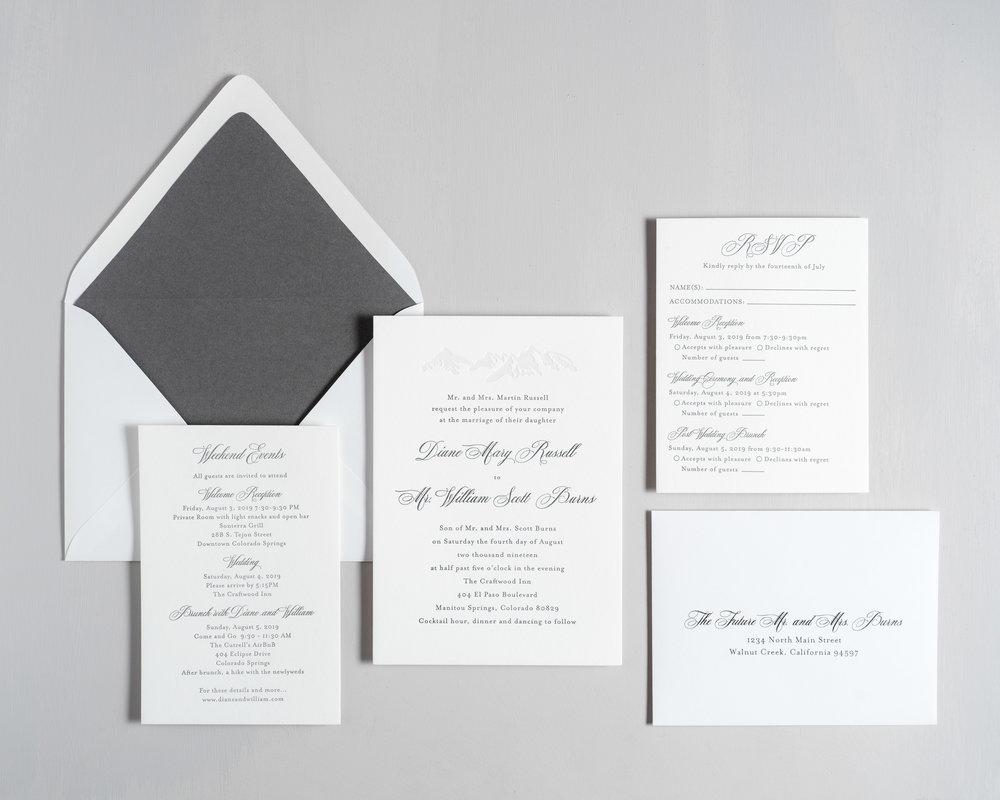 Classic Mountain Letterpress Wedding Invitations by Just Jurf-1.jpg
