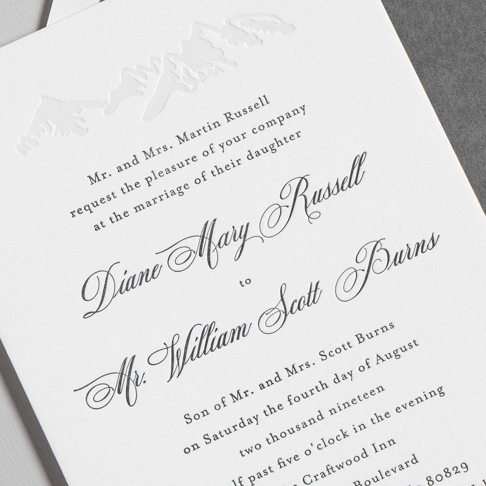 Classic Mountain Letterpress Wedding Invitations by Just Jurf-8b.jpg