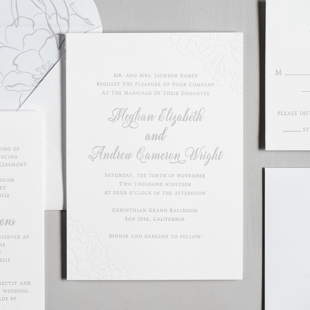 Simple Elegant Floral Letterpress