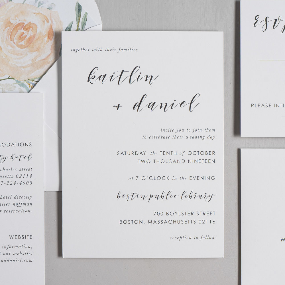 Simple Modern Script V2 Wedding Invitations by Just Jurf-2.jpg
