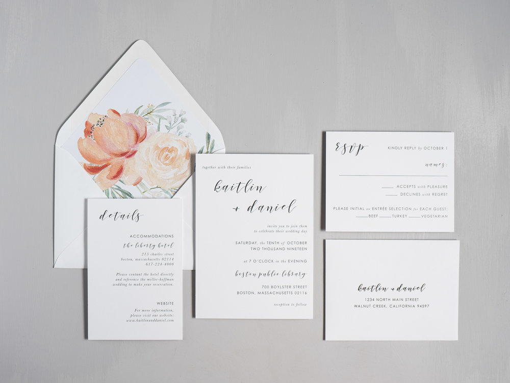 Simple Modern Script V2 Wedding Invitations by Just Jurf-1.jpg