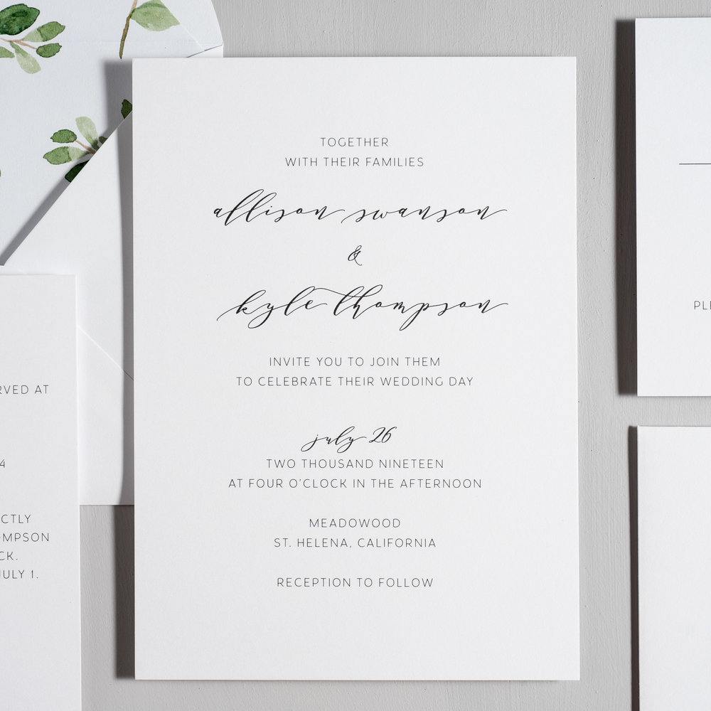Modern Greenery V2 Wedding Invitations by Just Jurf-2.jpg