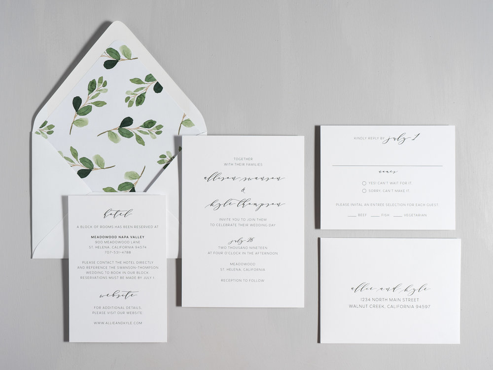 Modern Greenery V2 Wedding Invitations by Just Jurf-1.jpg