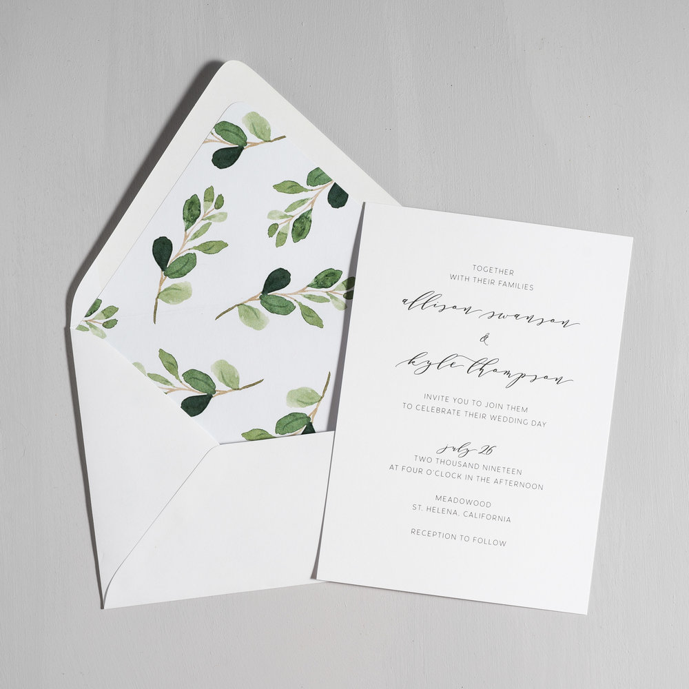 Modern Greenery V2 Wedding Invitations by Just Jurf-5.jpg