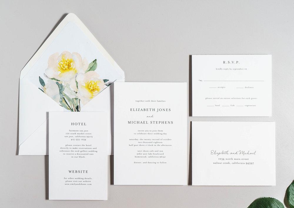 Botanical Minimalist V2 Wedding Invitations by Just Jurf-1.jpg