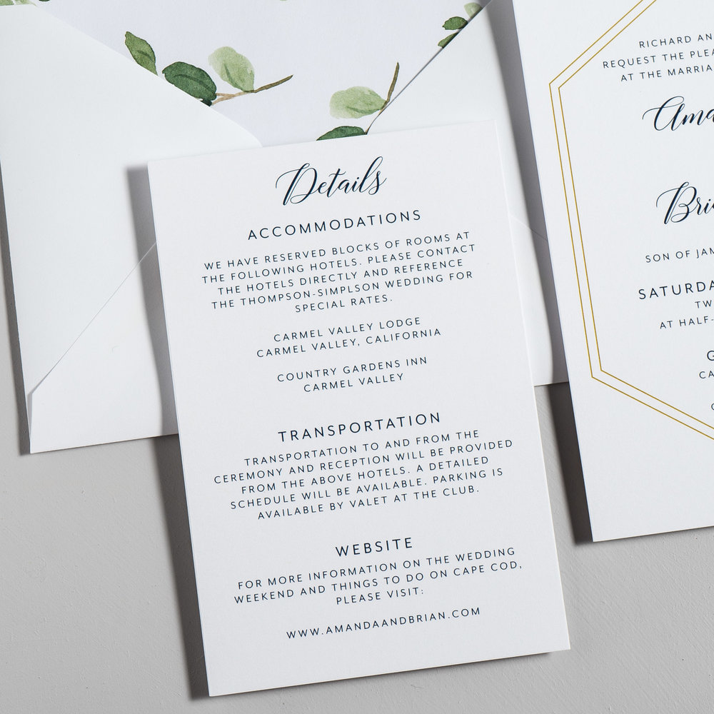 Navy, Gold, and Greenery Wedding Invitations by Just Jurf-3b.jpg
