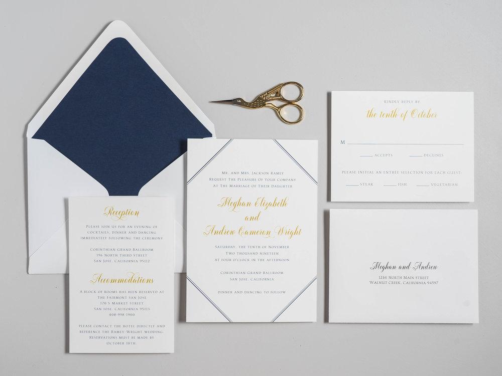 *Classic Navy & Gold Wedding Invitations by Just Jurf-1.jpg