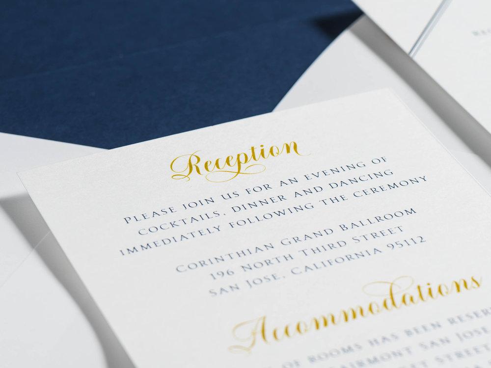*Classic Navy & Gold Wedding Invitations by Just Jurf-6.jpg