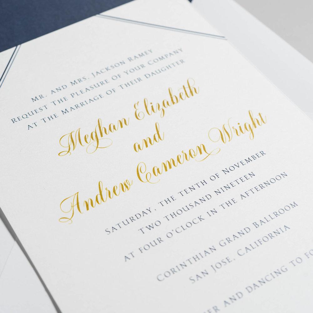 *Classic Navy & Gold Wedding Invitations by Just Jurf-13.jpg