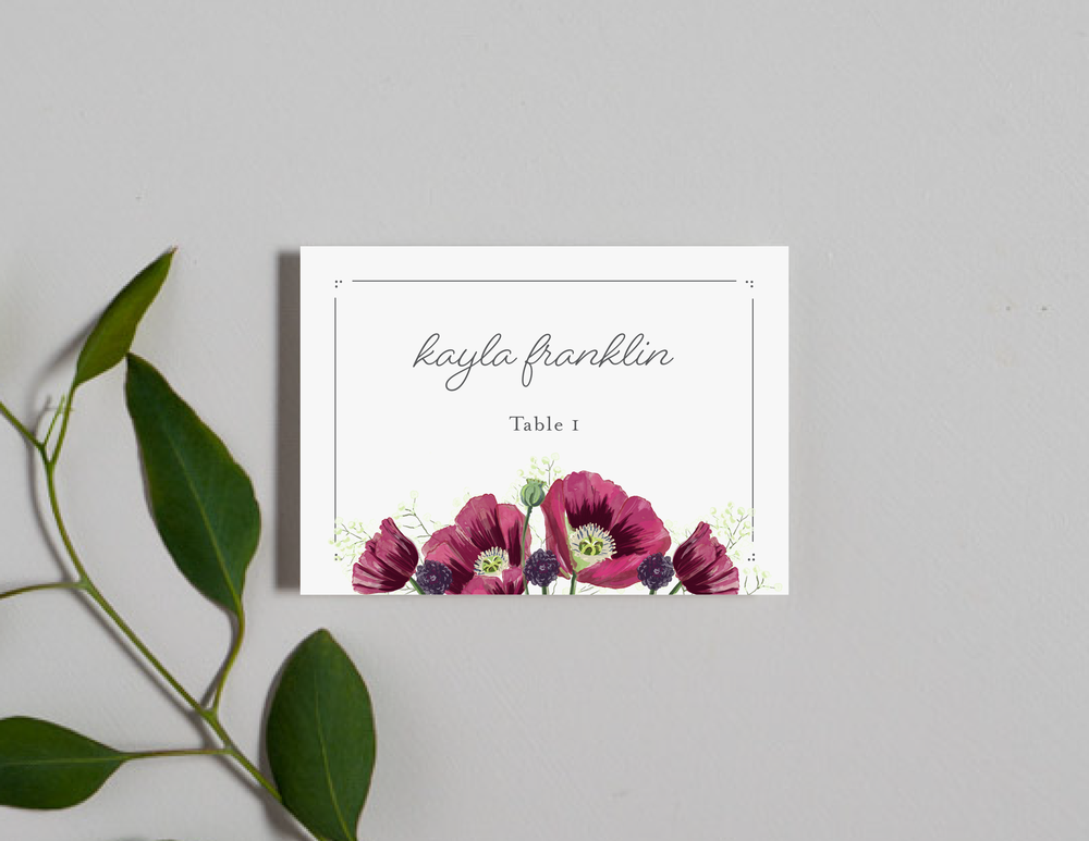 Burgundy Poppy Place Cards by Just Jurf-01.png