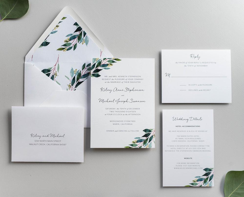 *Botanical Greenery Wedding Invitation by Just Jurf-3.jpg