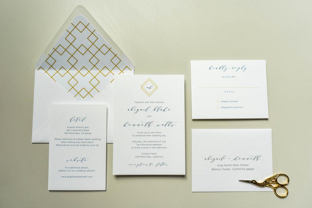 *Blue Modern Geometric Wedding Invitation by Just Jurf-2.jpg