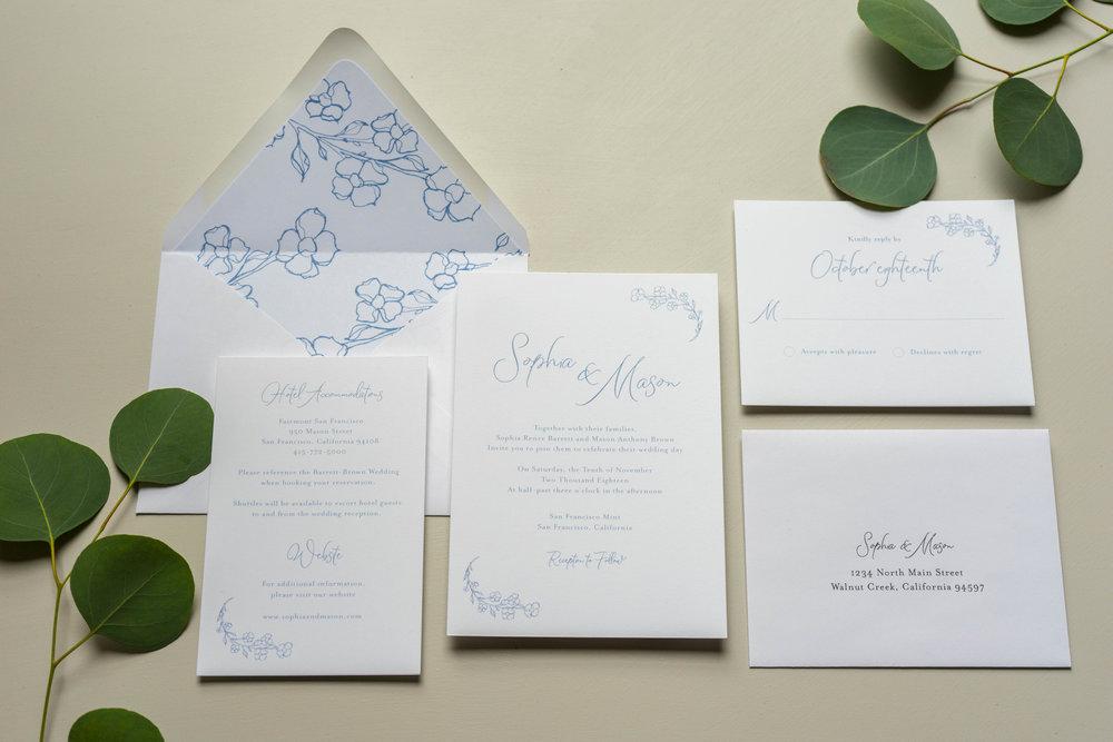 Dusty Blue Floral Wedding Invitation by Just Jurf-1.jpg