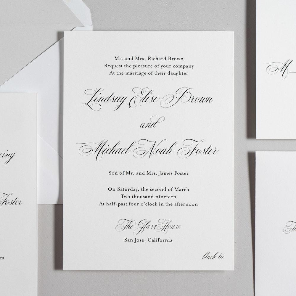 Elegant Script Wedding Invitations by Just Jurf-2.jpg