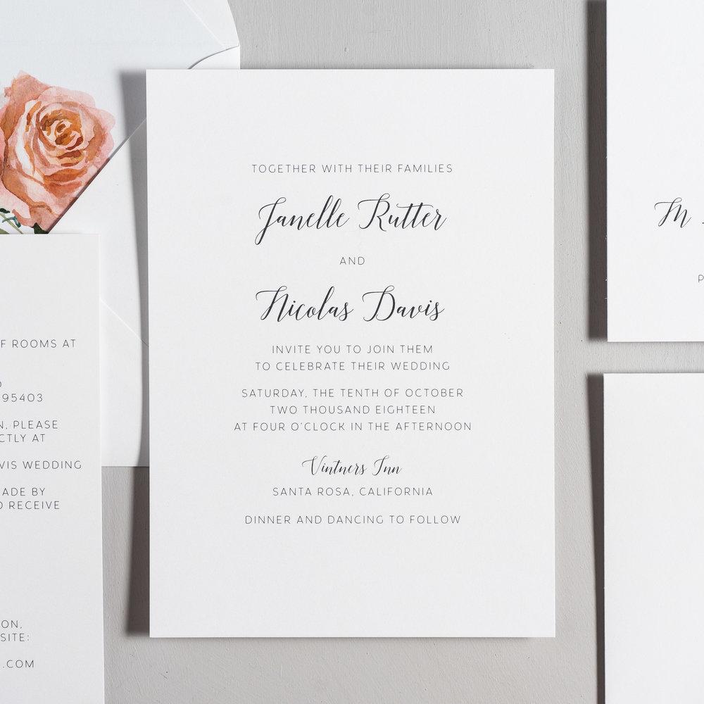 Simple Script Wedding Invitations by Just Jurf-2.jpg