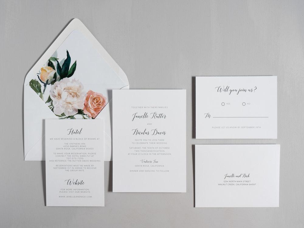 Simple Script Wedding Invitations by Just Jurf-1.jpg