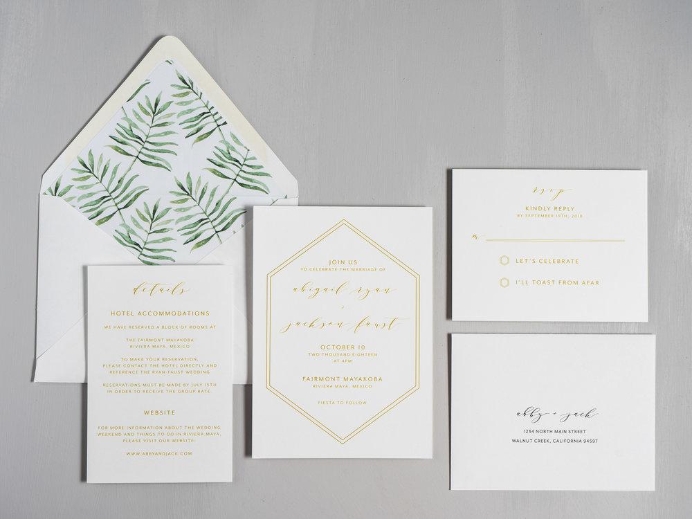 Hexagon Tropical Wedding Invitations by Just Jurf-1.jpg