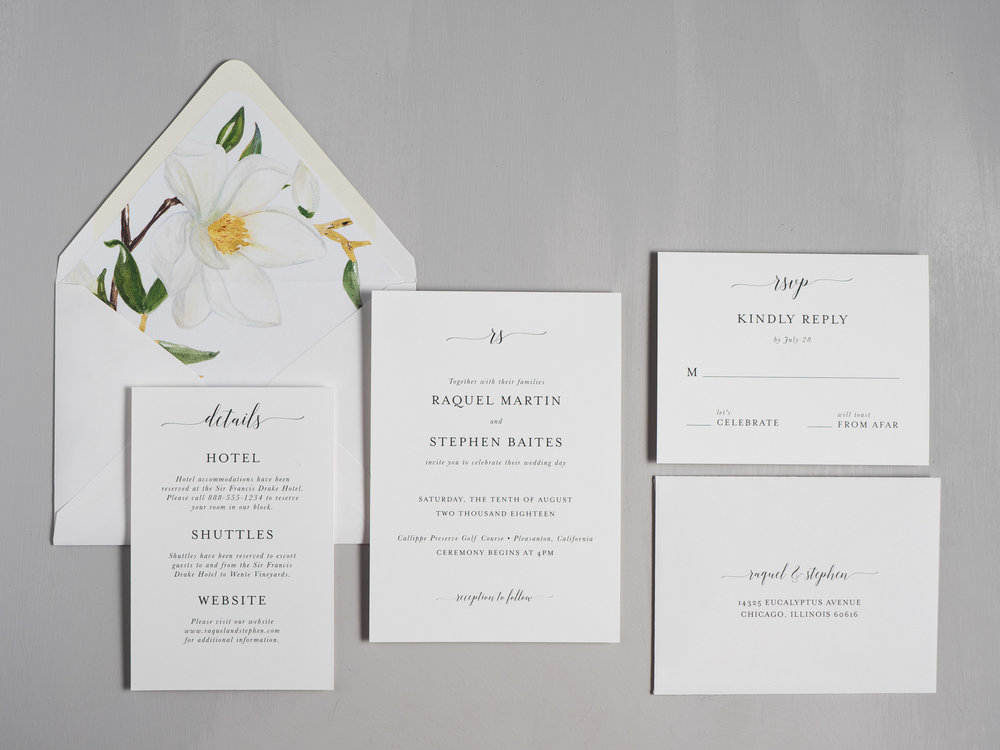 Magnolia Romance Wedding Invitations by Just Jurf-1.jpg