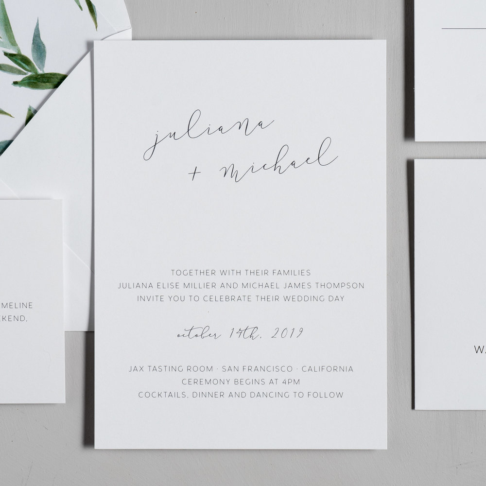 Modern Greenery Wedding Invitations by Just Jurf-2.jpg