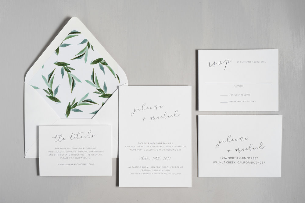 Modern Greenery Wedding Invitations by Just Jurf-1.jpg