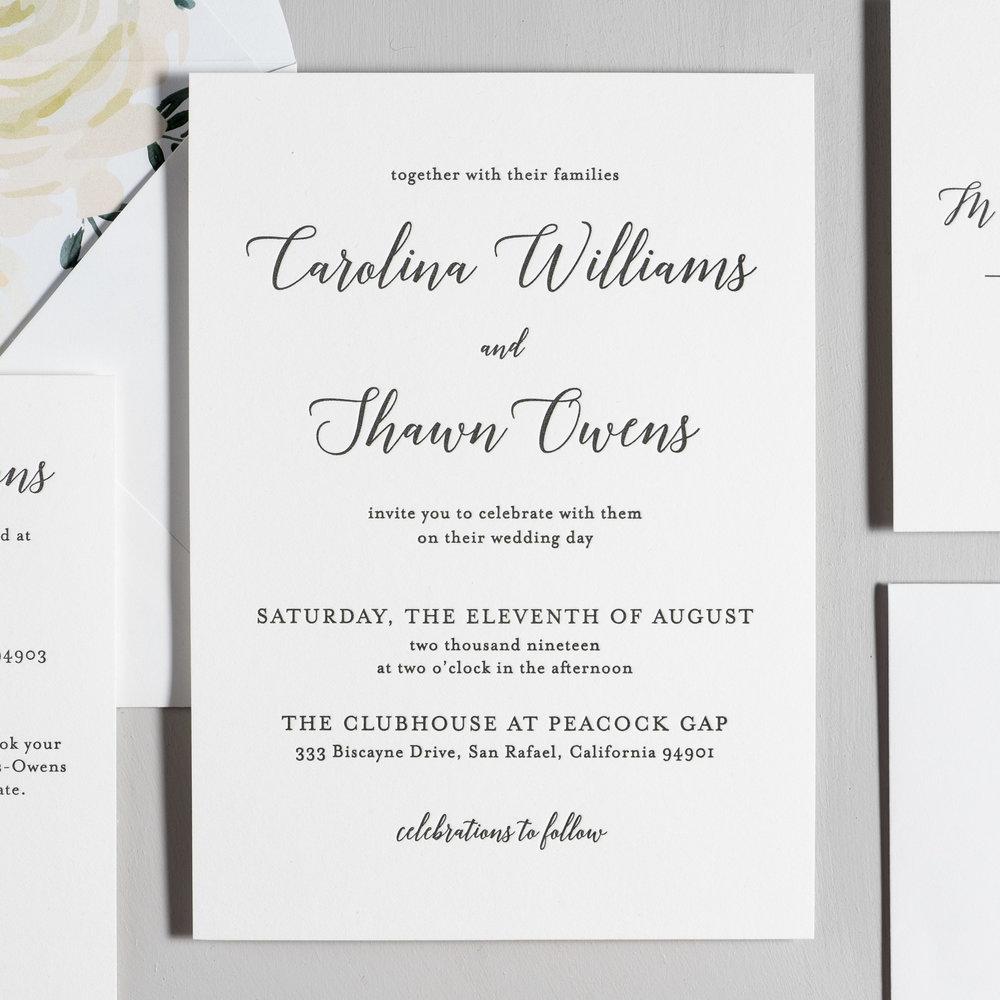 Elegant Calligraphy Letterpress Wedding Invitations by Just Jurf-2.jpg