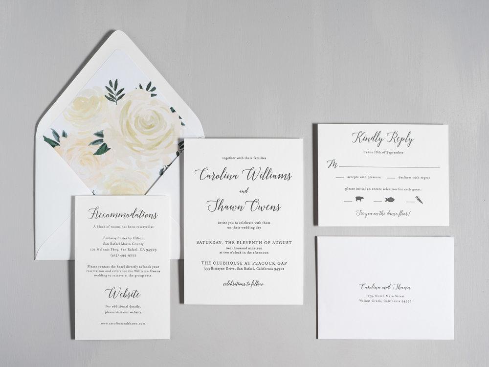 Elegant Calligraphy Letterpress Wedding Invitations by Just Jurf-1.jpg