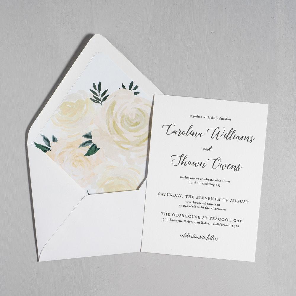 Elegant Calligraphy Letterpress Wedding Invitations by Just Jurf-5.jpg