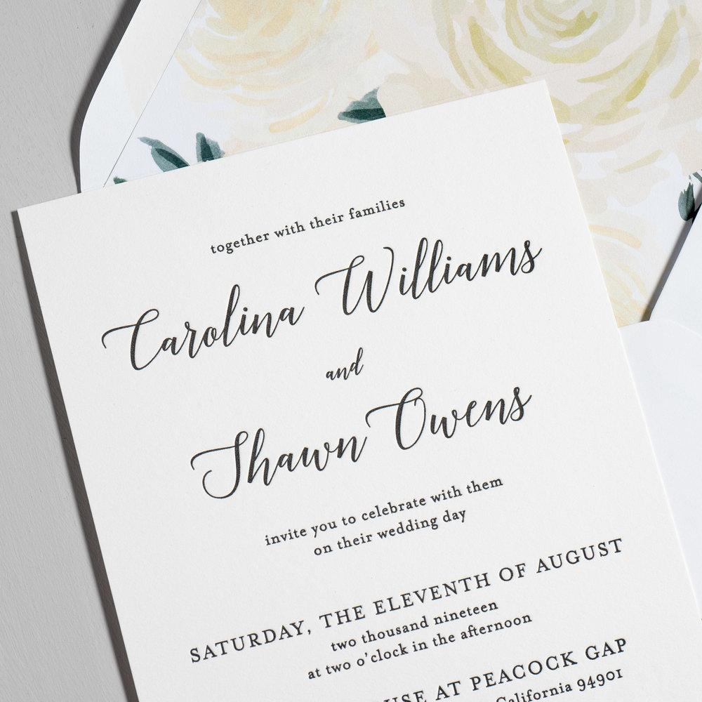 Elegant Calligraphy Letterpress Wedding Invitations by Just Jurf-8a.jpg