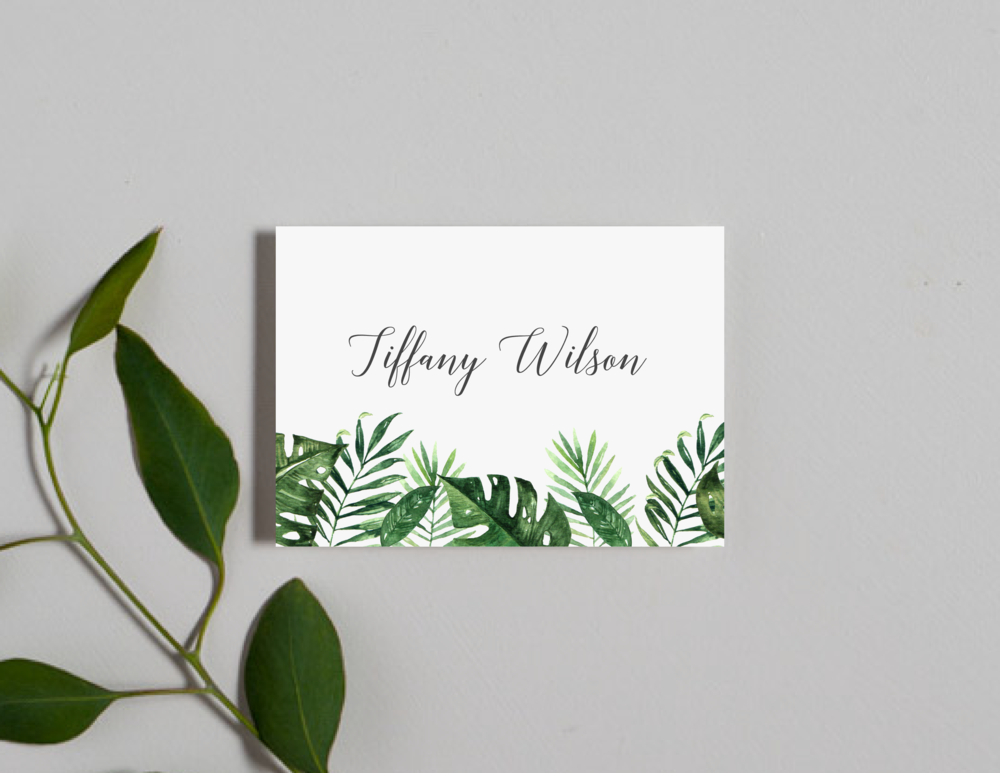 Tropical Greenery Palm Leaf Place Cards by Just Jurf-01.png