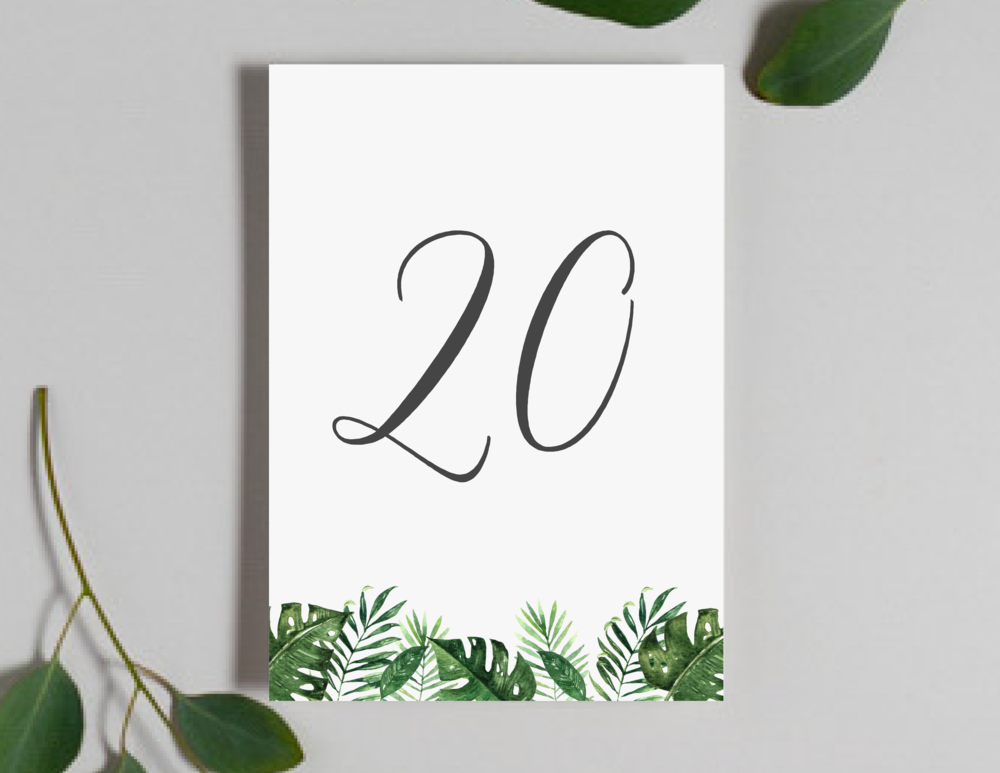 Tropical Greenery Palm Leaf Table Numbers by Just Jurf-01.png
