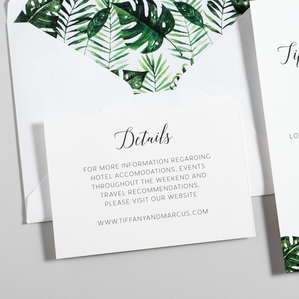 Tropical Greenery Palm Leaf Wedding Invitations by Just Jurf-3.jpg