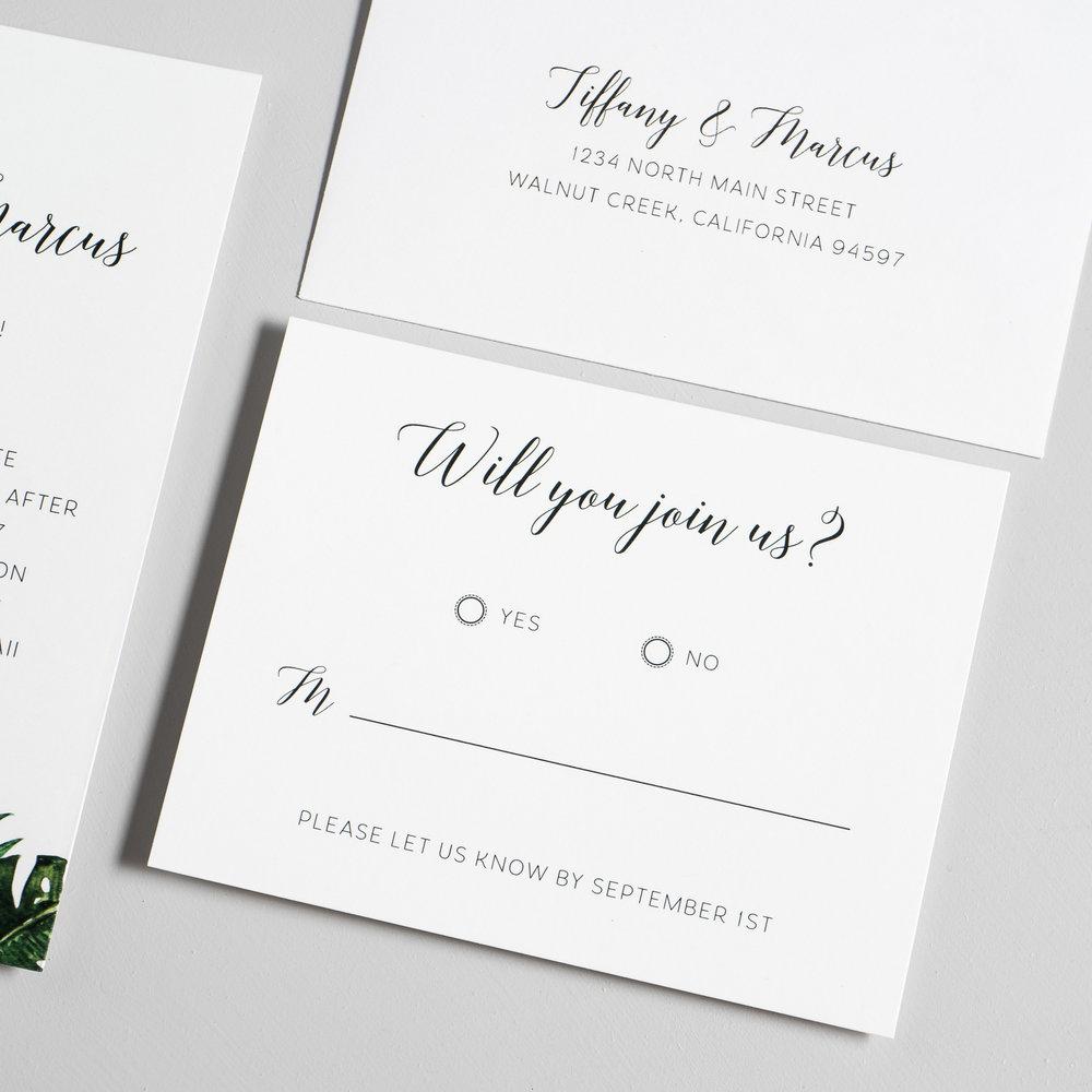 Tropical Greenery Palm Leaf Wedding Invitations by Just Jurf-4.jpg