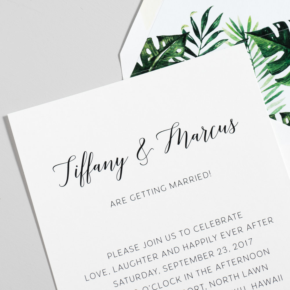 Tropical Greenery Palm Leaf Wedding Invitations by Just Jurf-8.jpg