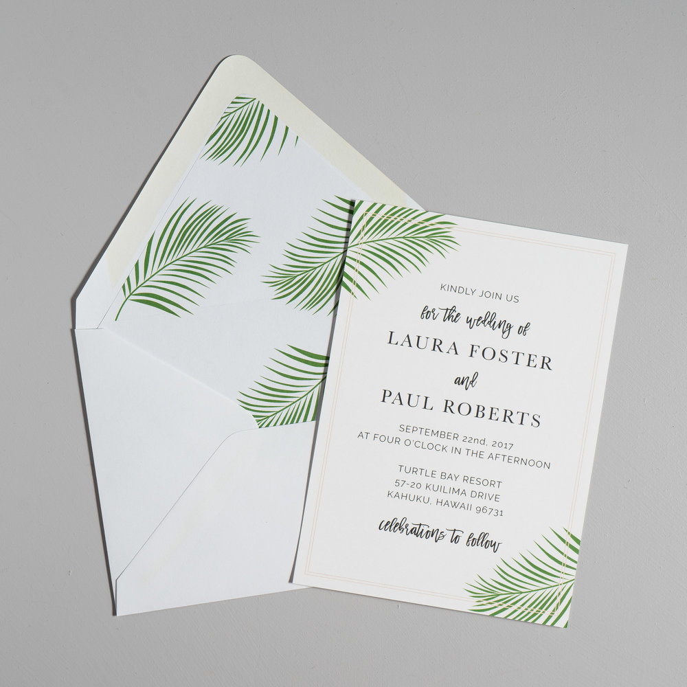 Soft Tropical Palm Leaf Wedding Invitations by Just Jurf-5a.jpg