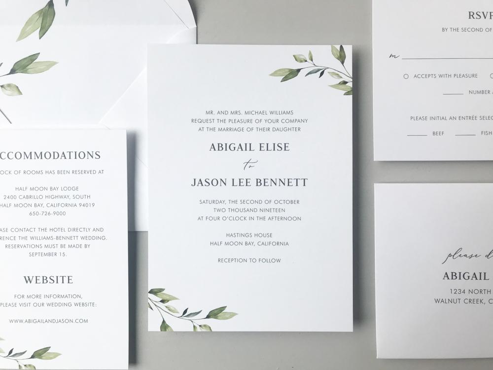 Simple Greenery Wedding Invitation Suite by Just Jurf-2.jpg