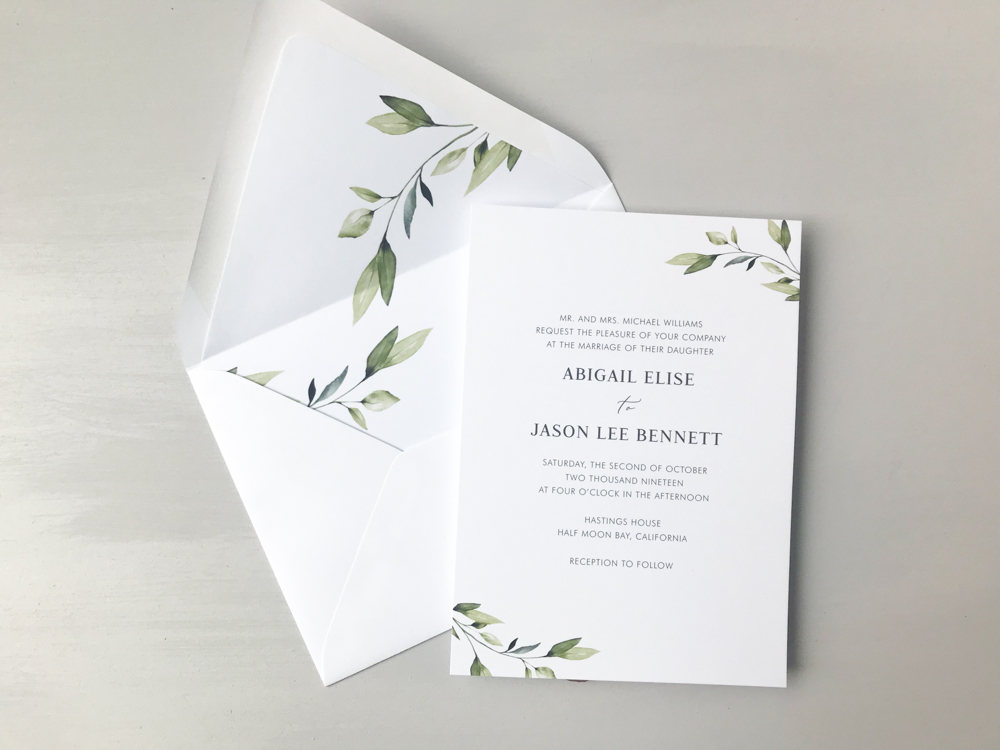 Simple Greenery Wedding Invitation Suite by Just Jurf-5.jpg