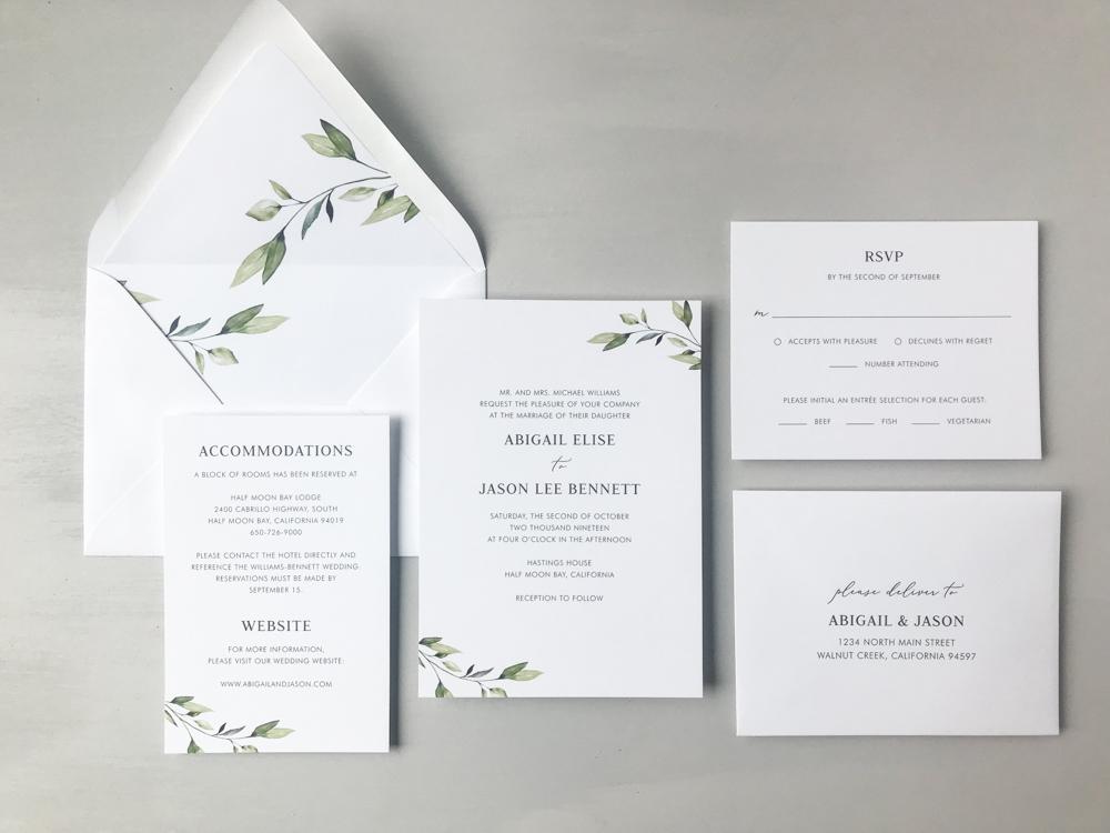 Simple Greenery Wedding Invitation Suite by Just Jurf.jpg