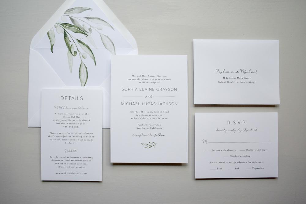 Greenery Minimalist V2 Wedding Invitation Suite by Just Jurf-1.jpg