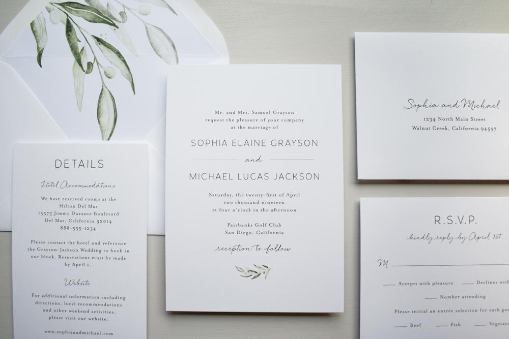 Greenery Minimalist V2 Wedding Invitation Suite by Just Jurf-2.jpg