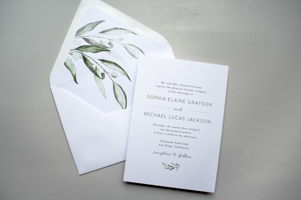 Greenery Minimalist V2 Wedding Invitation Suite by Just Jurf-5.jpg