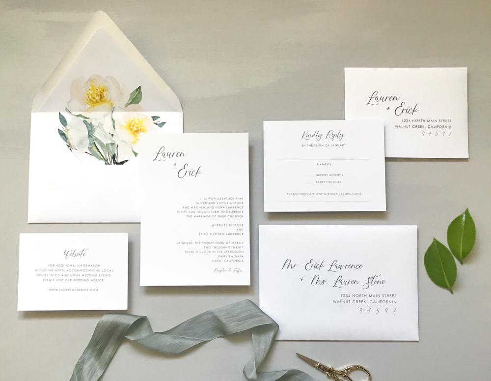 Asymmetrical Floral Wedding Invitation by Just Jurf-1.jpg