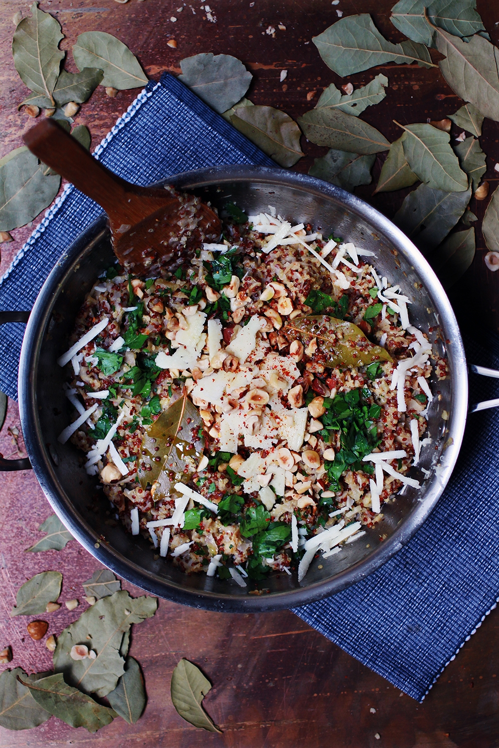 QUINOA & CELERIAC RISOTTO WITH TOASTED HAZELNUTS AND TRUFFLE OIL - GF