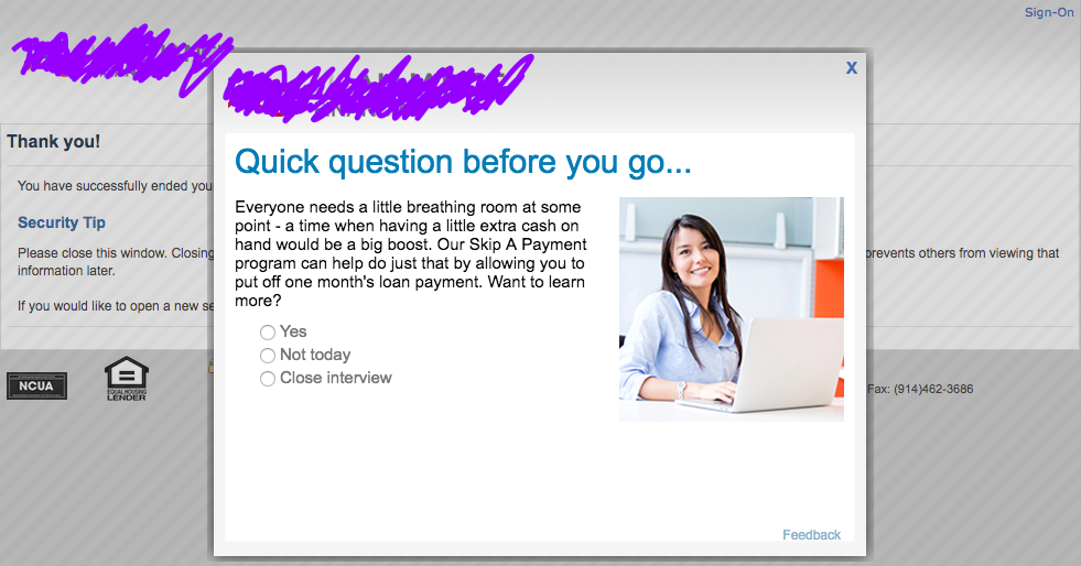 Figure 1 - Interview Application at logout