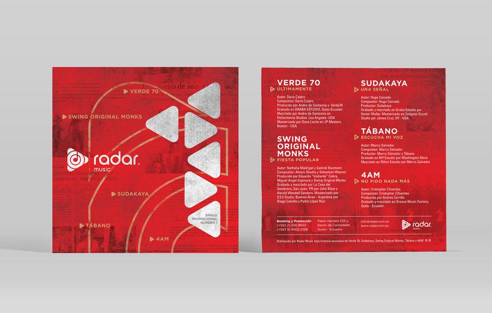 Disco promocional de artistas representados por la agencia Radar Music