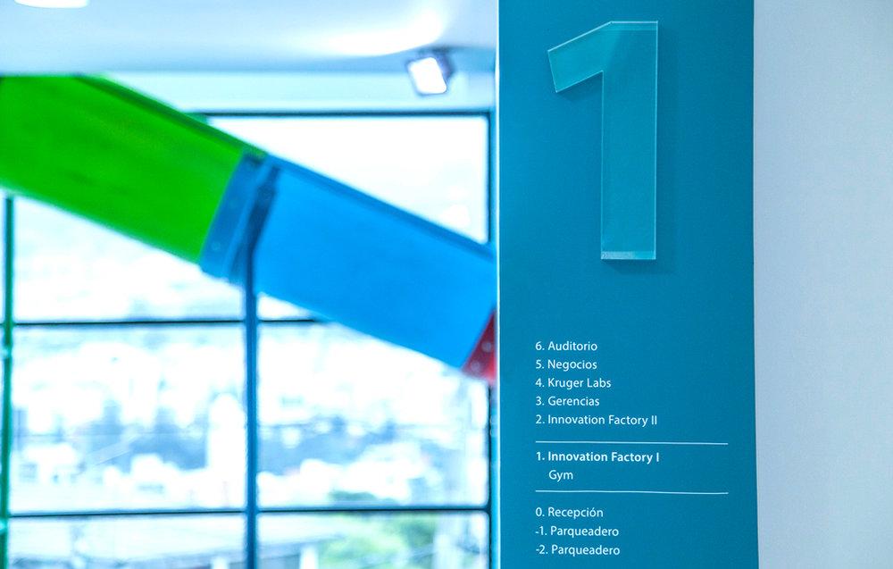 Columnas identificatorias e informativas para el primer piso