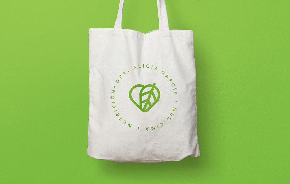 Aplicación de marca en bolsa ecológica