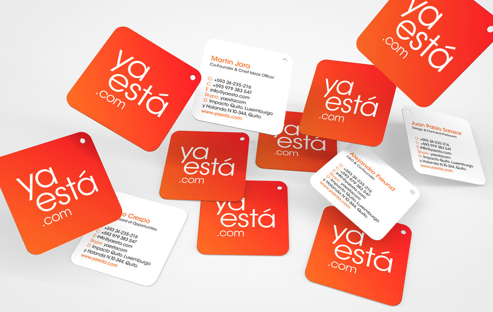 Corporate cards with logo shape and die